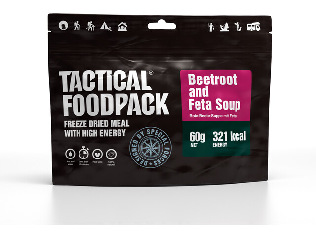 Tactical Foodpack Freeze Dried Meal 60g, Beetroot and Feta Soup